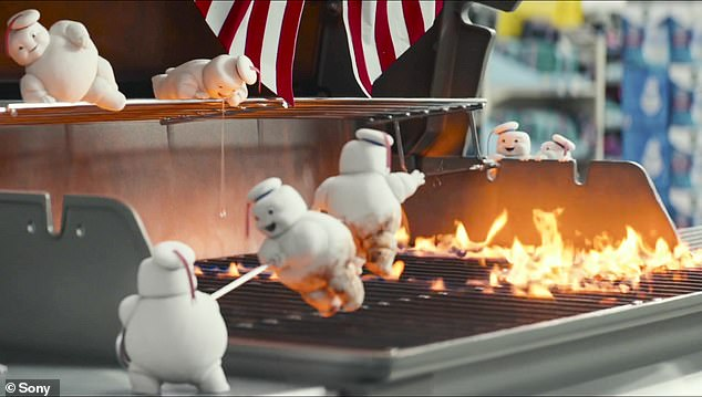 Creepy: The clip then switches to Debauchery Marshmallows, which appear to have a deranged death wish.  They are shown hopping on a lit grill and skewering happily as they start to get crisp in the flames