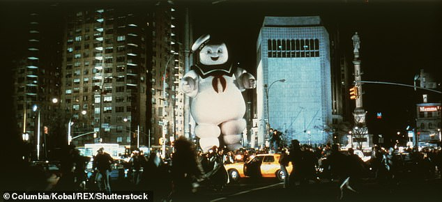 Classic: Ghostbusters (1984) culminated with a monster movie parody in which the fictional Stay-Puft Marshmallow Man was brought to life on a monumental scale to destroy Manhattan