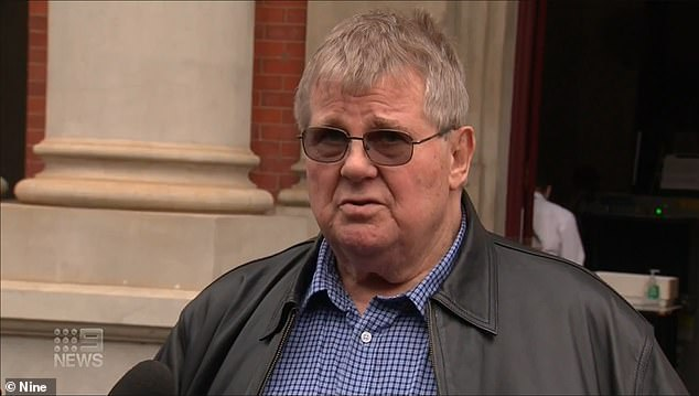 John Prothero (pictured outside court on Wednesday) was left a broken man after his daughter Lauren's death
