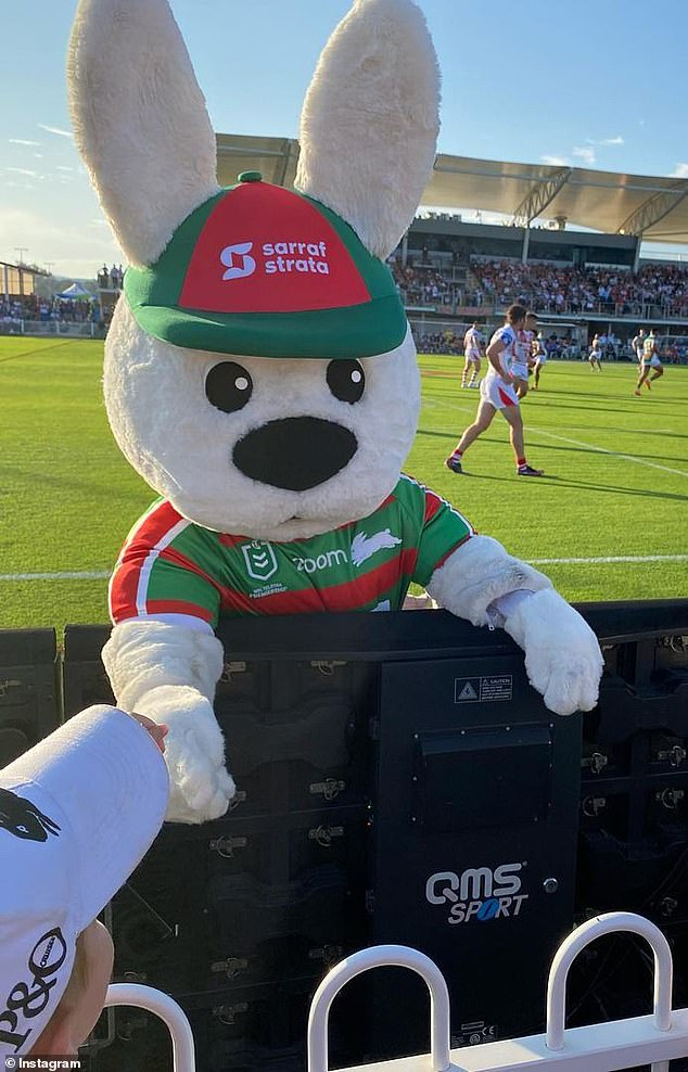 Reggie the Rabbit is a fan favourite who says he was only trying to do his job and entertain fans