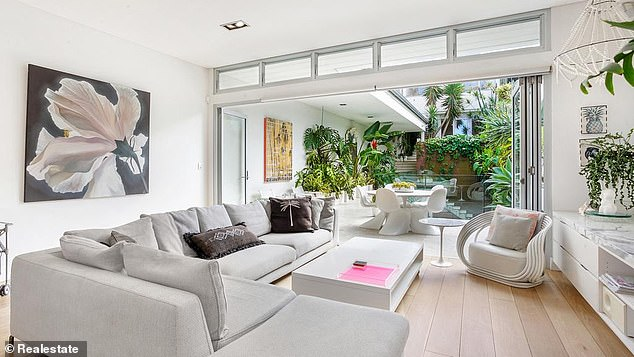 Roomy: The home boasts 500 square metres of floor space, including a master suite with dressing room and private terrace