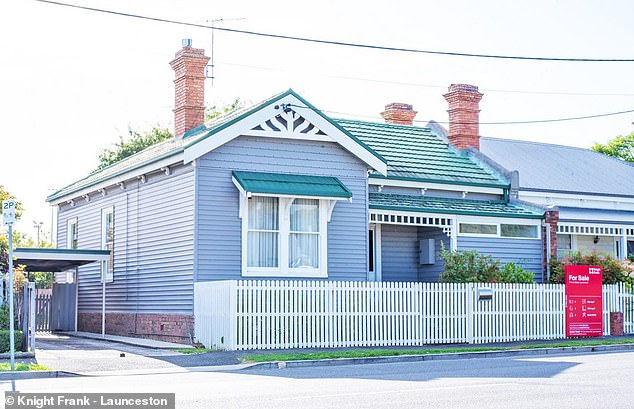 During the past five years, more affordable major regional centres have experienced 40 per cent house price growth - vastly outpacing increases in Sydney, Melbourne and Canberra. Pictured is a house at Launceston in Tasmania, a growth area