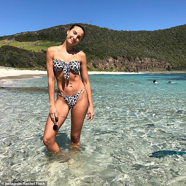 Rachael (pictured on Australia's Lord Howe Island in December 2019) is known for her healthy lifestyle
