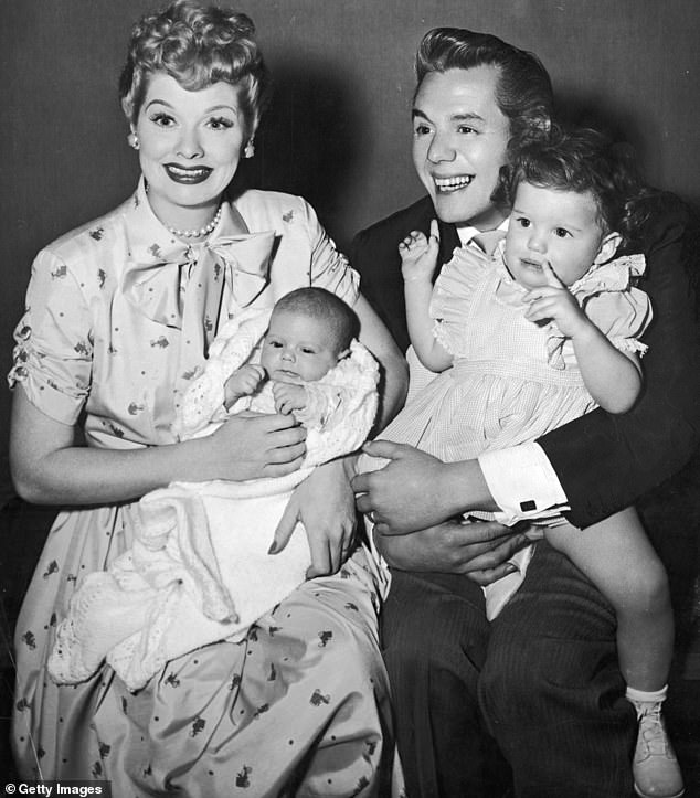 Storyline: The new biopic is about a single week spent making an episode of I Love Lucy, during which Lucy and Desi's marriage is shaken. Pictured:Lucille Ball and Desi Arnaz in 1953