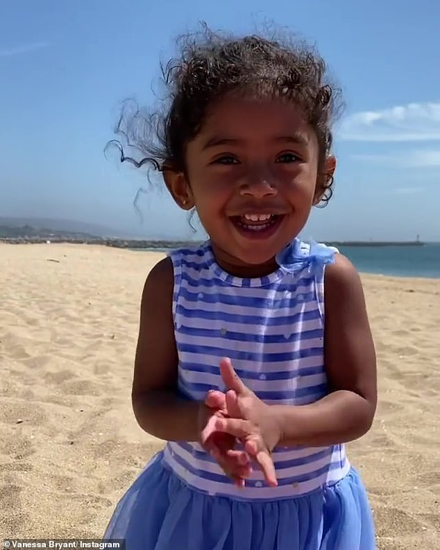 Beach day:Vanessa Bryant spent her Wednesday at the beach with her adorable daughters Capri and Bianka, along with friends Kelly and Kristin