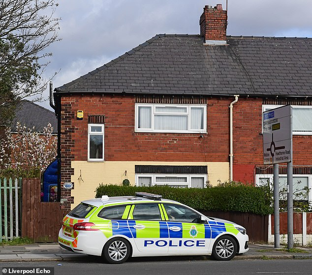 The shocking attack happened in the middle of the afternoon in Bootle, Merseyside, yesterday as children celebrated a birthday