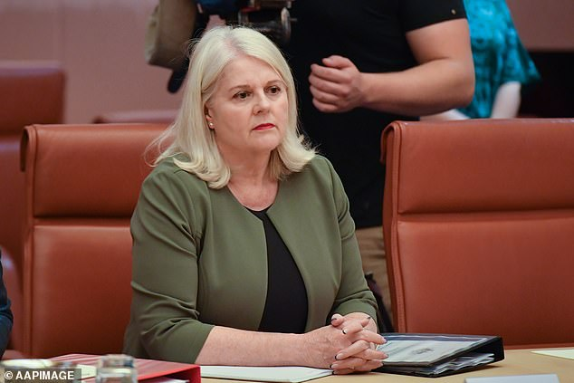 Home Affairs on Thursday morning updated their website to advise Australians they would need to special permit to travel beyond New Zealand to another country. Pictured is the new Home Affairs Minister Karen Andrews