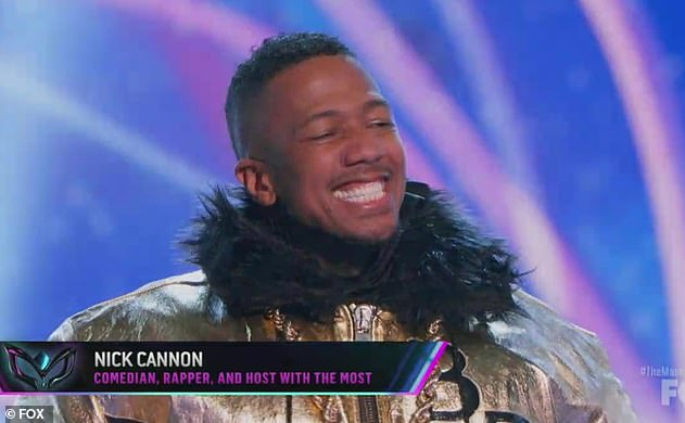 Who let the dog out?Nicole was seen on screens alongside Robin Thicke, Jenny McCarthy, Ken Jeong as they unmasked Nick Cannon as Bulldog on week five on The Masked Singer US
