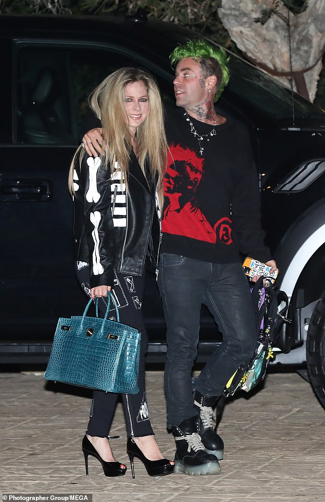 Released: Avril Lavigne and the handsome Mod Sun had a double date with Megan Fox and her boyfriend Machine Gun Kelly at Soho House in Malibu on Wednesday
