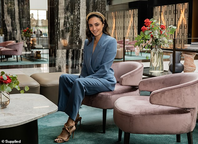 'I'm loving it!' Channel Seven reporter Abbey Gelmi (pictured), 31, has landed an exciting new gig as ambassador for The Star Championships this month