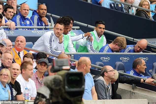 Jose Mourinho took Terry off at half-time and he watched the second-half from the bench