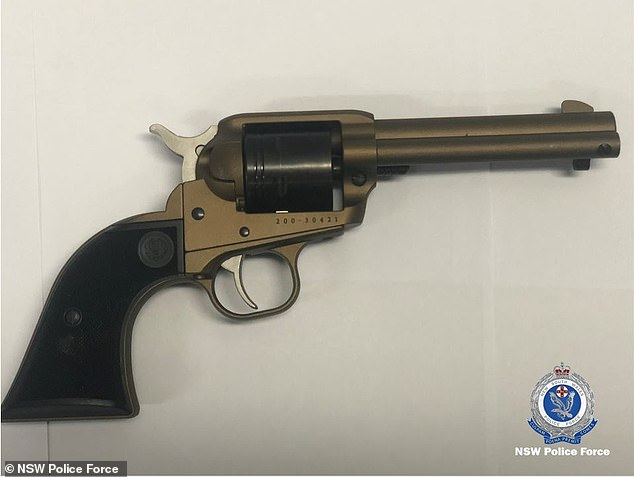 NSW Police seized 14 hand guns with a street value of $200,000 during their raid at the couple's Cherrybrook home