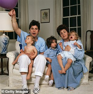 Sharon with Ozzy and children Jack, Aimee and Kelly, 1987