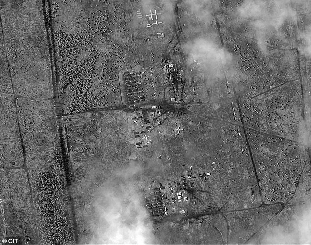 Satellite pictures show a field camp for Russian forces in the same region as the BUK was seen. The Conflict Intelligence Team (CIT) highlighted the base which has appeared in recent days.