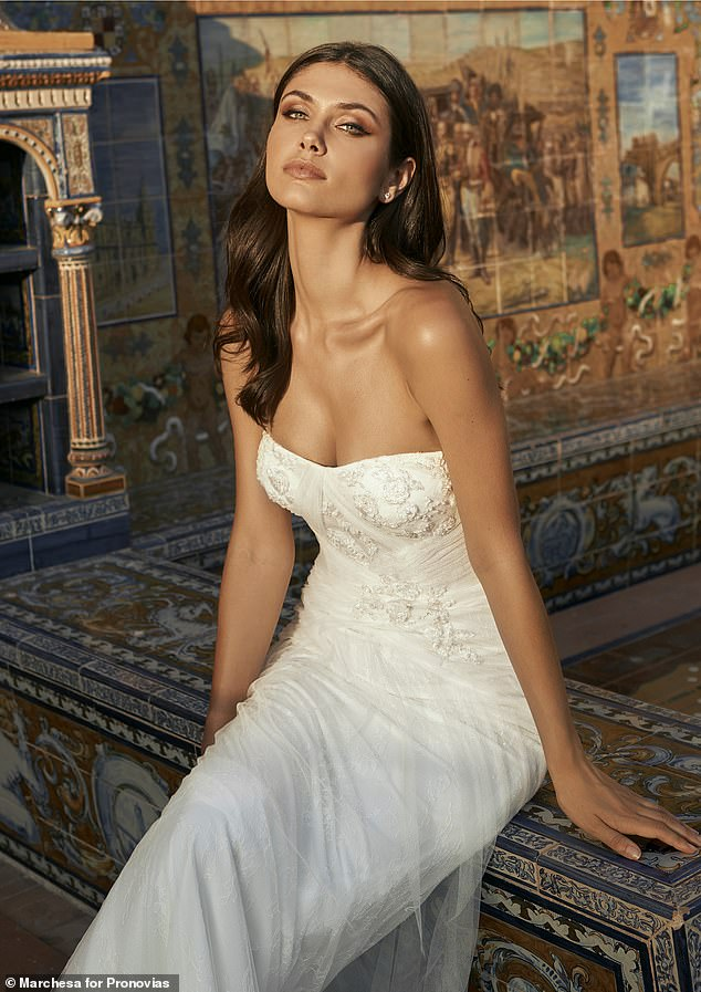 Each of the 21 wedding dresses has been created by the Creative Director and Co-founder of Marchesa Georgina Chapman and her NYC atelier