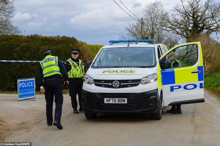 Yesterday three police vans were seen at the entrance to a long drive which leads to the remote property, while forensics officers were observed inside
