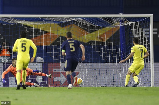 The Spaniard calmly rolls the ball into the net past Dinamo Zagreb keeper Dominik Livakovic