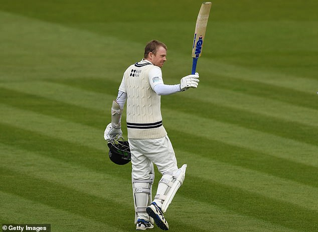 Sam Robson made a fluent 165 out of Middlesex's 293 for eight against Somerset at Lord's