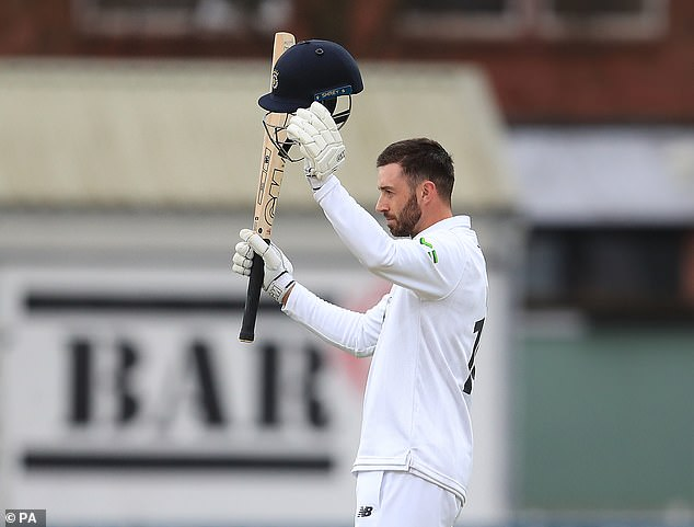 James Vince creamed a run-a-ball unbeaten 168 for Hampshire against Leicestershire