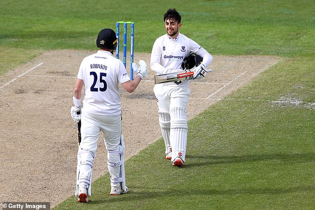 Sussex opener Tom Haines also hit 155 out of his side's 291 for nine against Lancashire
