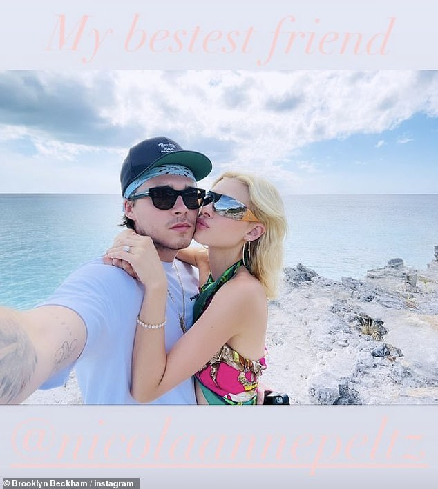 Loving Life: Last week Brooklyn posted a photo of himself, cozy up with Nicola while relaxing in the Caribbean