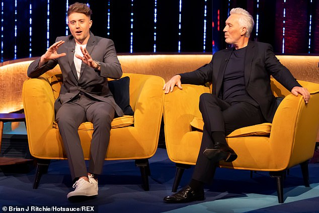 Honest: Roman Kemp says that making his mental health documentary was 'really tough' as he encourages men to talk to their friends who are 'struggling' on Saturday's upcoming Jonathan Ross show