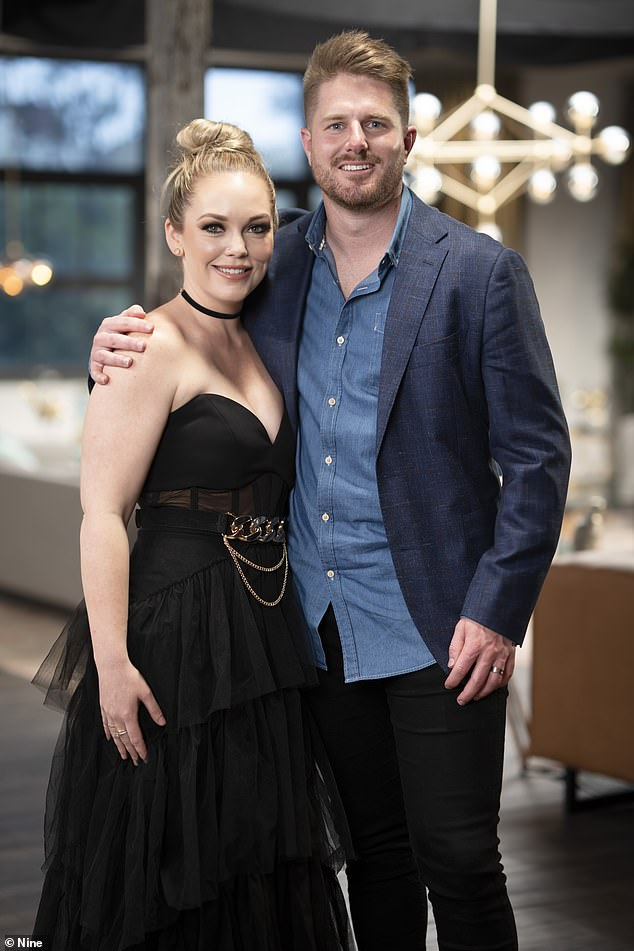 Trouble in paradise? Married At First Sight's Bryce Ruthven and Melissa Rawson, both 31, (pictured) were noticeably missing as their co-stars were pictured arriving at the show's final dinner party in Sydney on November 26