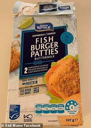 Mum Georgia prepared the delicious meal using the Ocean Royale fish burger patties, which cost a mere $3.99 per pack