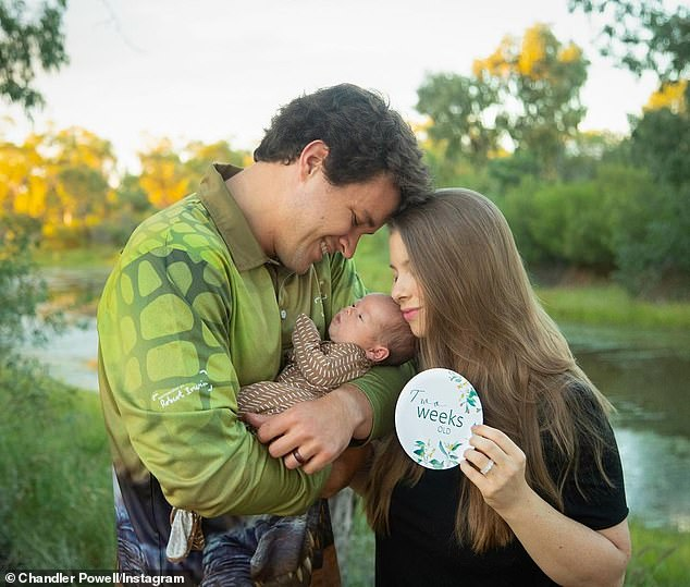 Make memories: Bindi and Chandler announced the birth of their daughter on March 26, a day after welcoming the child to the Buderim Private Hospital on Queensland's Sunshine Coast