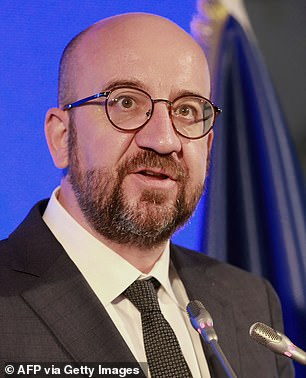 Erdogan's treatment of von der Leyen was a deliberate snub — all the more pointed, since one of the items up for discussion on the summit agenda was his government's disrespect for women's rights. Which brings me to the extraordinary conduct of Mr Michel, pictured, the former Belgian prime minister who took over from Donald Tusk at the European Council at the end of 2019