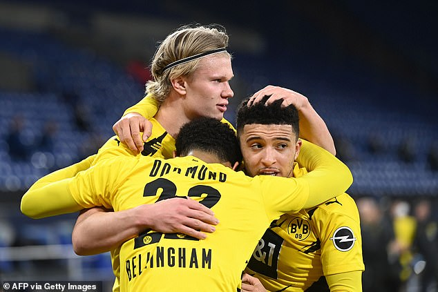 Clubs will reportedly  have to stump up £154m to prise Haaland from Dortmund this summer