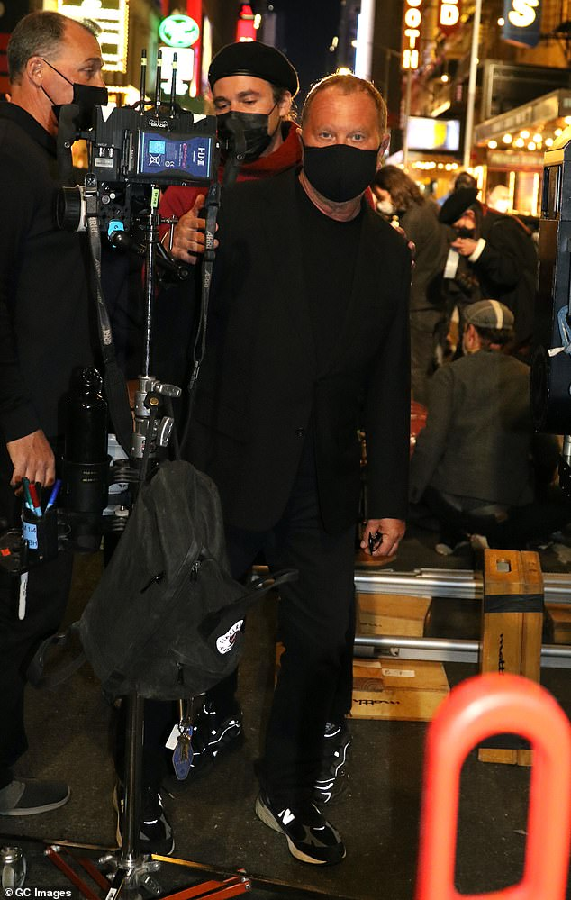 The man of the moment: Acclaimed designer Michael Kors was seen on the set of the big show