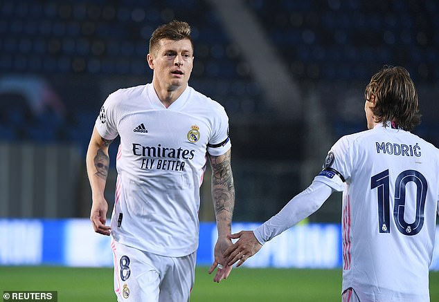 The midfield presence of Toni Kroos (left) and Luka Modric will be crucial for Real Madrid and their hopes of another Champions League crown