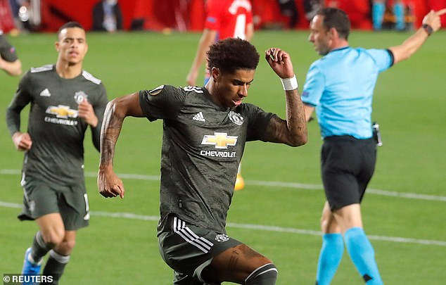 Marcus Rashford continued his excellent goal-scoring run in the Europa League vs Granada
