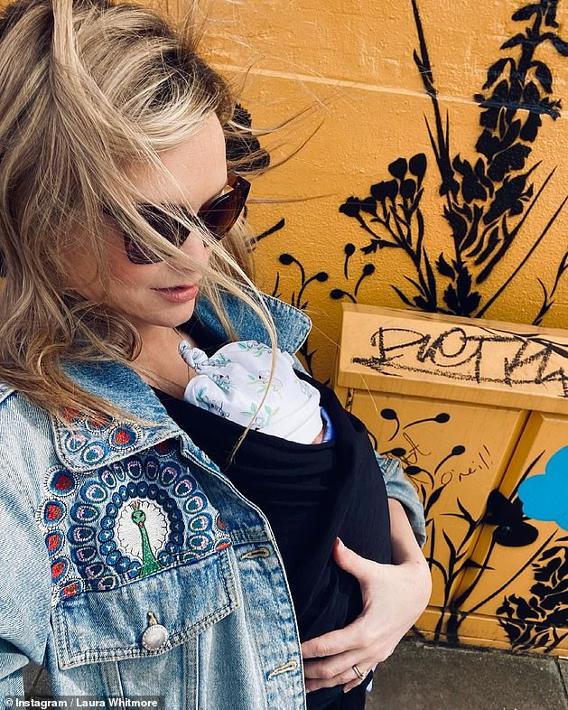 'We are in love':It comes after Laura posted the first image of her newborn baby girl to Instagram last Friday