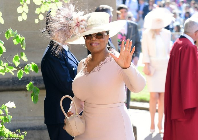 The last cause of tension was the Sussexes' announcement they would be appearing in an hour-and-a-half 'tell all' interview with Meghan's friend Oprah Winfrey (pictured at her wedding)