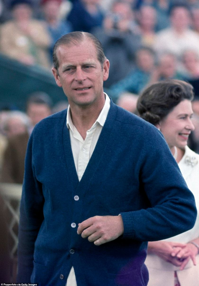 The Duke of Edinburgh attending a polo match with the Queen in Windsor Park on August 6 1967