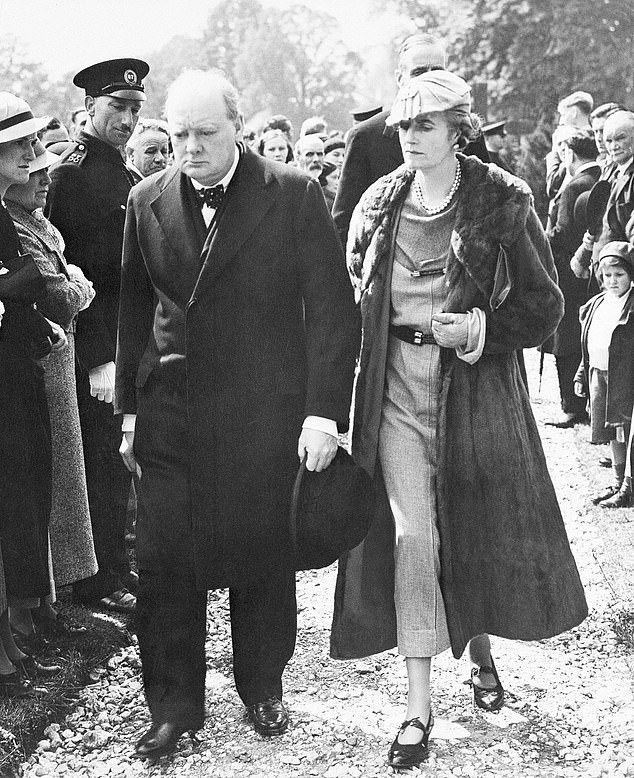 Churchill was closely supported by his wife Clementine (seen right) during his time as PM and in the years leading up to taking on the role