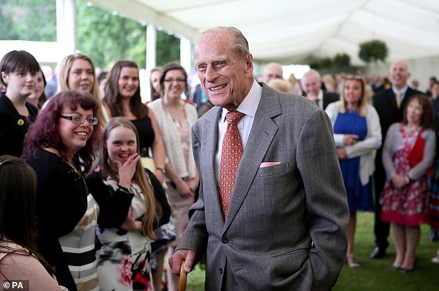 A sad moment: A statement released by Buckingham Palace on Friday revealed the Duke of Edinburgh had died 'peacefully' at Windsor Castle at the age of 99 (pictured in 2017)