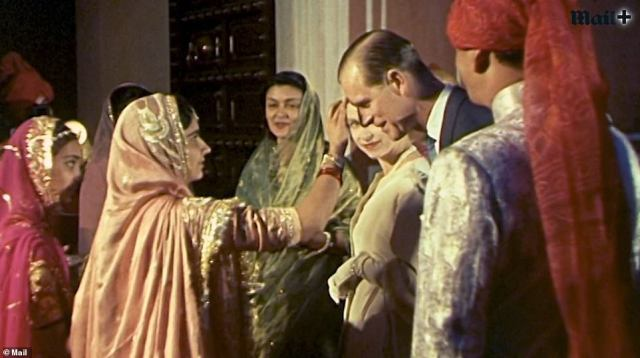Prince Philip relinquished his roles in the military and put country first to join Her Majesty and remain steadfastly by her side through thick and thin, for some 73 years. Here he is pictured during the pair's 1961 visit to India