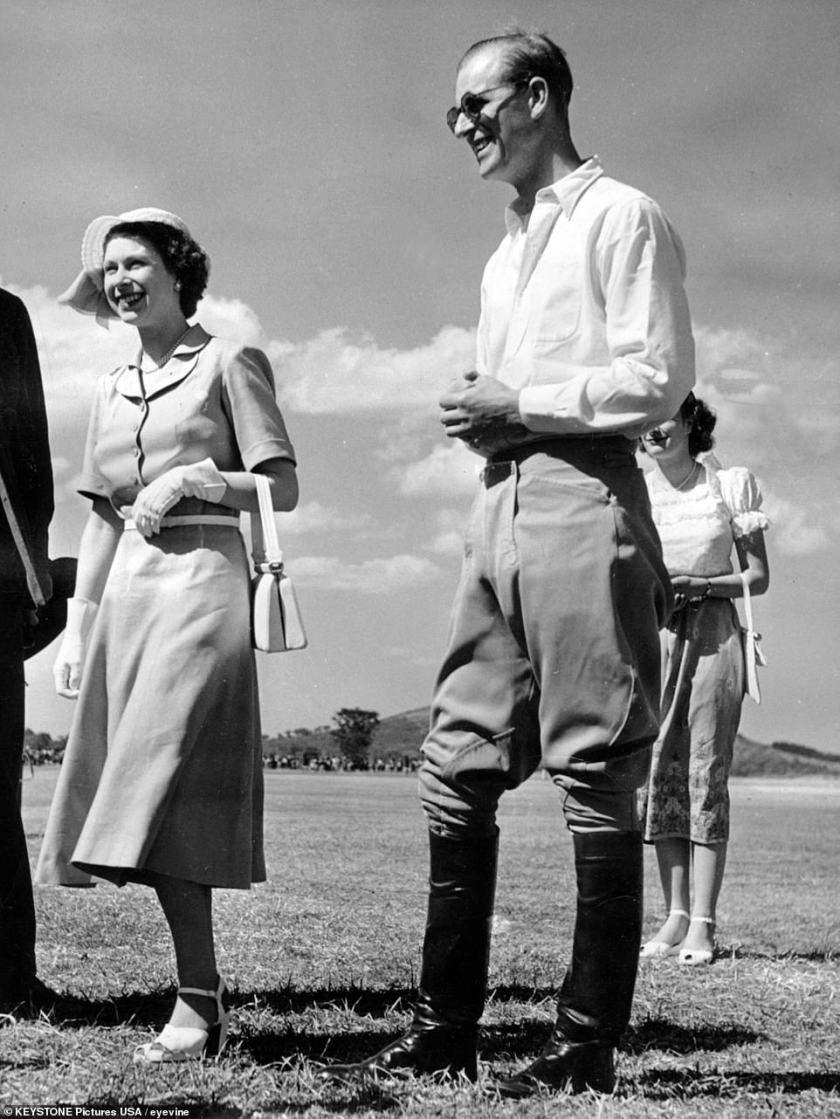 Princess Elizabeth and Prince Philip were in Kenya when her father died, and rushed back to England immediately (pictured during the trip)