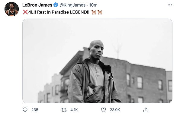 Passing: NBA legend LeBron James tweeted his condolences