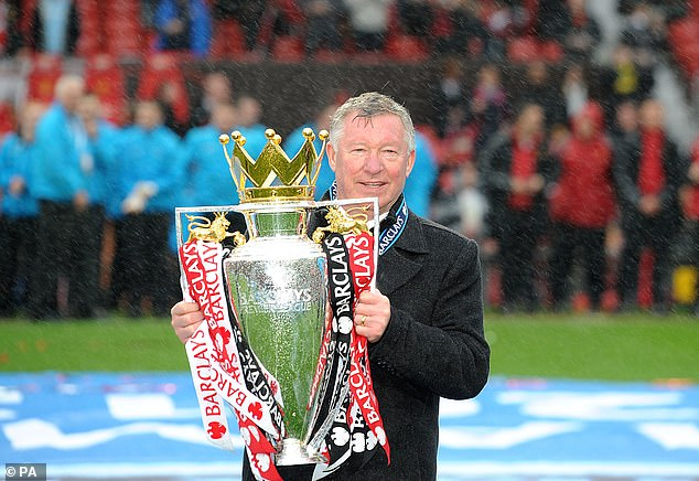 Mourinho hit out by mentioning Solskjaer's 'trophies are for egos' comment in his press conference, saying Sir Alex Ferguson (above) believed otherwise