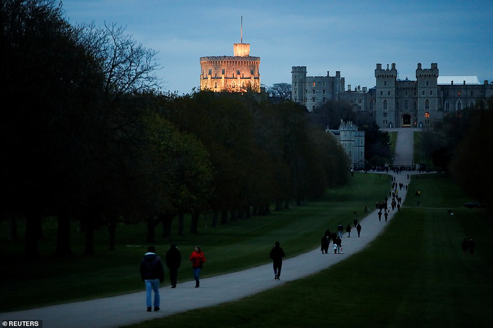 Aview of Windsor Castle, as people gathered to bring flowers after Britain's Prince Philip passed away