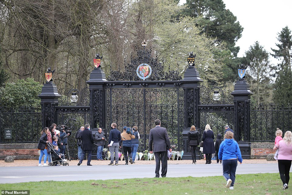 The Norwich Gates at Sandringham is very sombre on the day it is announced that Prince Philip, Duke of Edinburgh, has passed away