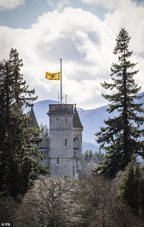 Balmoral Caslte lowered its flag to half mast today