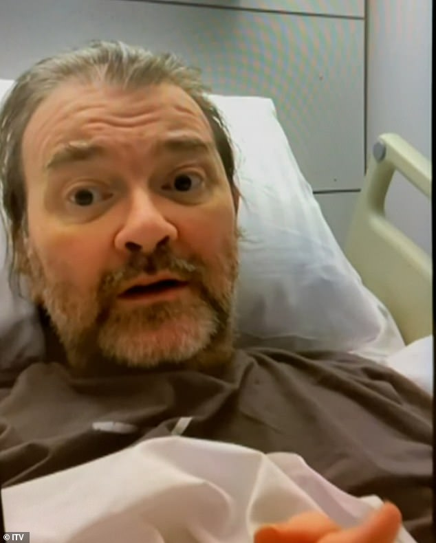 Battle: Kate filmed every step of Derek's, pictured, year long battle with COVID-19 following his hospitalisation with the respiratory illness in March 2020 with the fly-on-the-wall programme aired on Tuesday