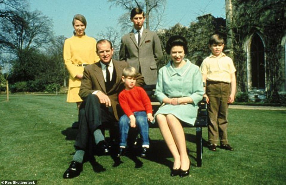 Their first child, Charles, was born at Buckingham Palace in November 1948. Anne was born at Clarence House in August 1950. Ten years later, Andrew was born at Buckingham Palace in February 1960, as was Edward in March 1964. This picture was taken in1968 at Windsor Castle