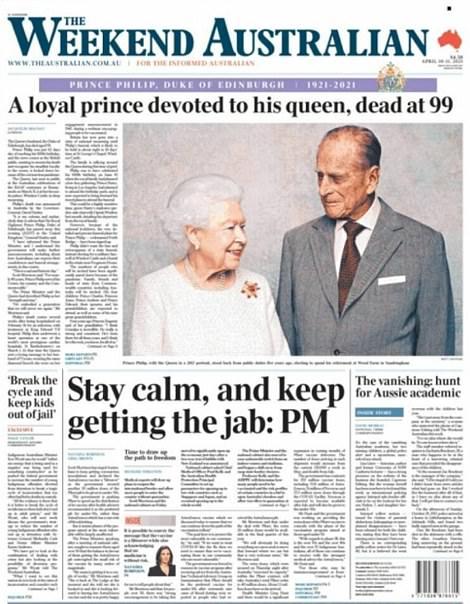 Australian paper The Weekend Australian