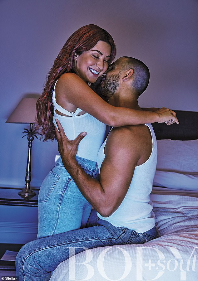 In love:Martha Kalifatidis and Michael Brunelli look more loved up than ever in a new photoshoot for Body and Soul magazine. The Married At First Sight couple cuddled up in bed in the arresting photos, which were published on Saturday. Both pictured